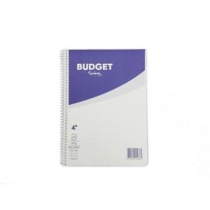 Cuaderno espiral 80 hojas 4º,cuadrícula 4 x 4 mm.60g/m2,LYRECO Budget