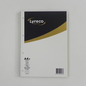 Cuaderno espiral 120 hojas A4 de 70g/m2.color azul/oro.LYRECO Premium
