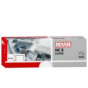 Caja de 5000 grapas NOVUS modelo NE8 galvanizadas