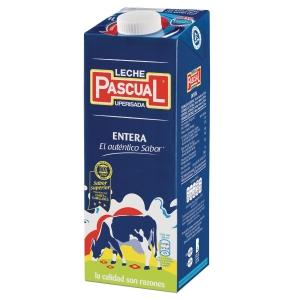 Pack de 6 briks de leche entera uperisada PASCUAL de 1L