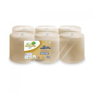 Caja de 6 bobinas de toallas LUCART EcoNatural ecológico 2 capas 135 m havana