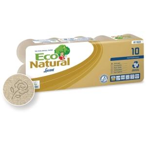 Pack de 10 rollos papel higiénico doméstico ECONATURAL 2 capas 18m