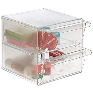 Modulo Organizador Cubo con 2 cajones transparente  Dimensiones: 190x152x152mm