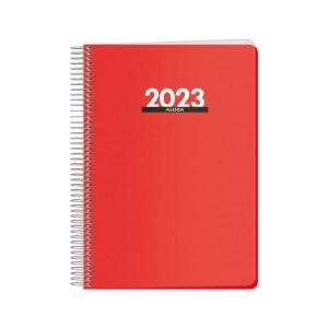 Agenda Dohe Metropolo - día página - 155x210 mm - rojo
