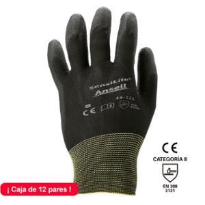 Caja de 12 pares de guantes ANSELL Sensilite 48-121 precisión Talla 9