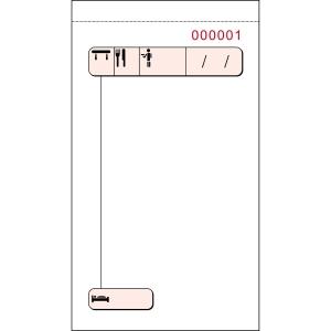 Talonario camarero duplicado numerado 88X155 mm