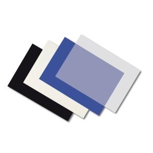 Pack de 100 cubiertas A4 180 micras FELLOWES de PVC opaco negro
