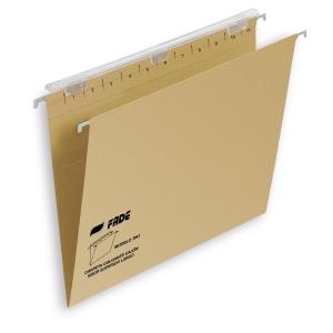 Pack de 25 carpetas colgantes con visor A4 Kraft TIKIFADE
