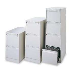 Cajón archivador de acero premium BISLEY de 3 cajones color gris