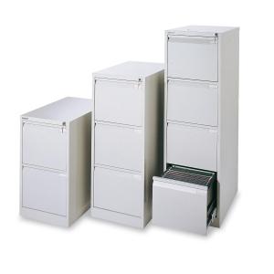 Cajón archivador de acero premium BISLEY de 4 cajones color gris