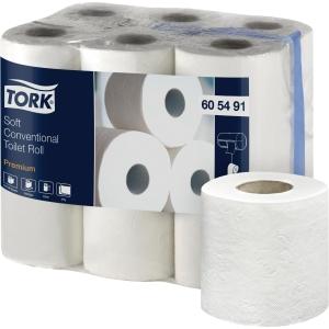 Pack de 12 rollos papel higiénico doméstico TORK Premium 2 capas 22,8m