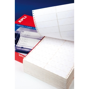 Caja de 2000 etiquetas APLI 559 impresora matricial 1 salida 101,6x74,1mm blanca
