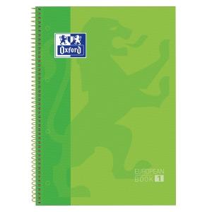 Cuaderno OXFORD con 80 hojas A4+ 5x5 verde