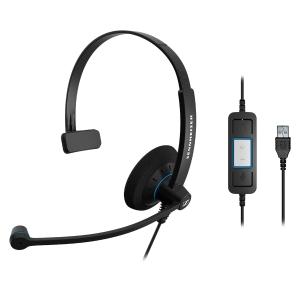 Auricular SENNHEISER SC 30 con conexión USB monoaural