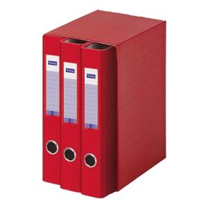 Modulo de 3 carpetas Lyreco FOLIO 2x40mm anillas rojo