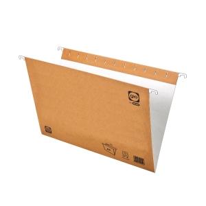 Pack de 25 carpetas colgantes con visorgio Folio prolongado kraft
