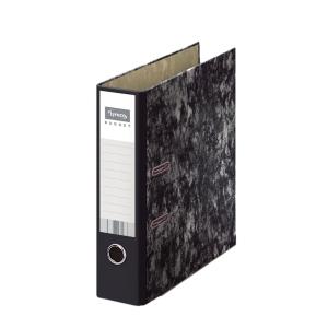 Archivador de palanca Lyreco Budget - A4 - lomo 75 mm - negro jaspeado