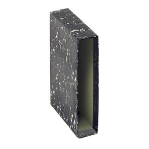 Cajetín archivador Lyreco Budget - A4 - lomo 82 mm - negro jaspeado