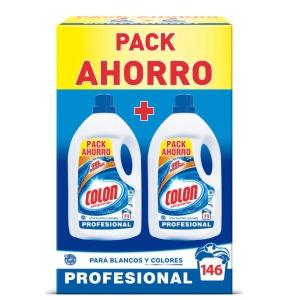 Pack de 2 botellas de detergente líquido para lavadora COLON 4,9 kg