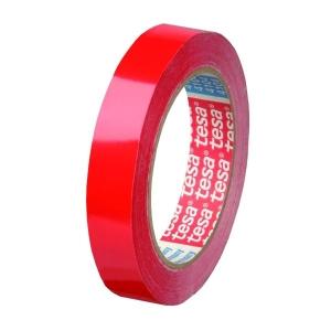 Cinta adhesiva TESA PVC 4204 12mmx66m rojo