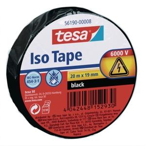 Cinta aislante TESA PVC 5619 19mmx20m negro