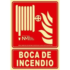 Placa de BOCA DE INCENDIO NORMALUZ de PVC fotoluminiscente 297 x 210 mm
