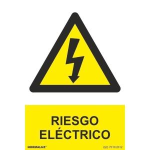 Placa de RIESGO ELECTRICO NORMALUZ de PVC 297 x 210 mm