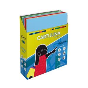 Pack de 500 cartulinas FABRISA 50x65 170g/m2 colores surtidos