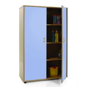 Mueble medio armario MOBEDUC puertas azules