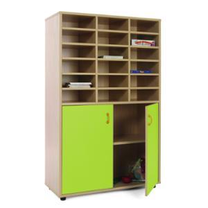Mueble medio armario y casillero MOBEDUC puertas verdes