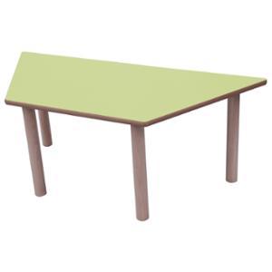 Mesa trapecio MOBEDUC de 53 cm color verde