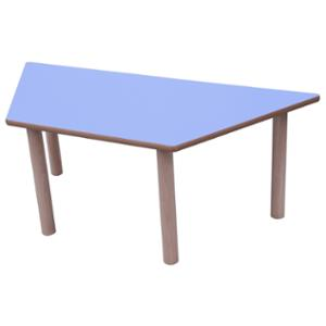 Mesa trapecio MOBEDUC de 53 cm color azul