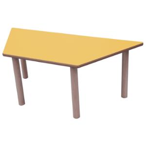 Mesa trapecio MOBEDUC de 53 cm color amarillo