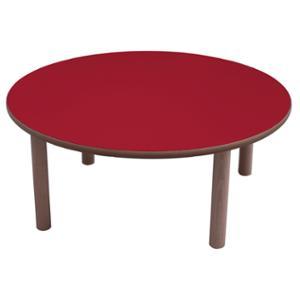 Mesa redonda MOBEDUC de Ø100 53 cm MOBEDUC color rojo