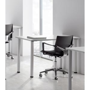 Mesa polivalente de melamina color blanco/blanco dimensiones 100 x 60 x 75 cm
