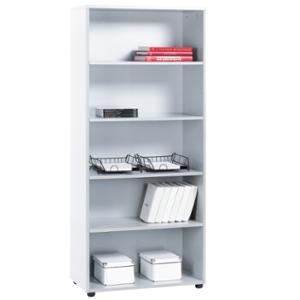 Estantería de melamina color blanco/blanco dimensiones 181 x 40 x 80 cm