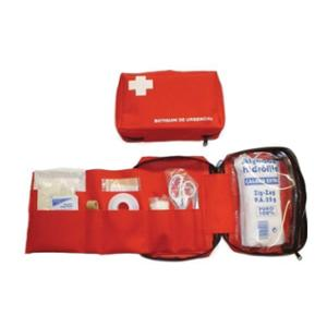 Neceser botiquín de primeros auxilios BIMEDICA de nailon rojo