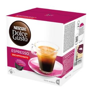 Caja de 16 cápsulas de café Dolce Gusto Espresso descafeinado