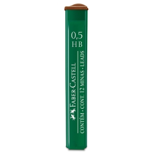 Tubo de 12 minas FABER CASTELL 0.5mm HB