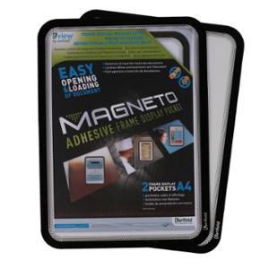 Pack de 2 fundas adhesivas MAgNETO A4 PVC negro
