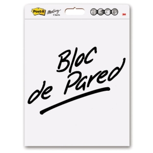 Pack 3 blocks de reuniones Post-it papel liso 30 hojas adhesivas de quita y pon