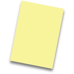 Pack de 50 cartulinas FABRISA A4 170g/m2 color amarillo