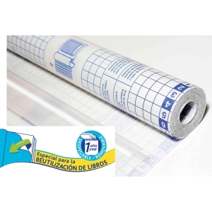 Rollo forro libros adhesivo despegable SADIPAL 0,5x20m transparente