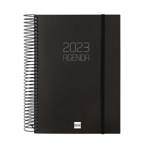 Agenda Finocam Opaque - día página - 155 x 212 mm - negro