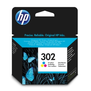 Cartucho de tinta HP 302 F6U65AE color
