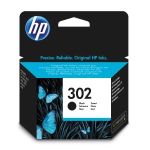 Cartucho de tinta HP 302 F6U66AE para OJ 3833/5230 y DJ 2130/3639 - negro