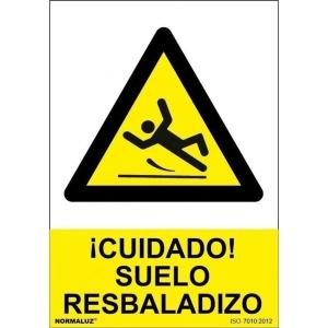 Placa de CUIDADO SUELO RESBALADIZO NORMALUZ de PVC 300 x 210 mm
