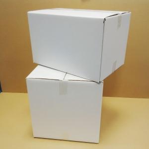 Pack de 25 cajas de cartón de 4 solapas de canal simple 160x120x110mm blancas