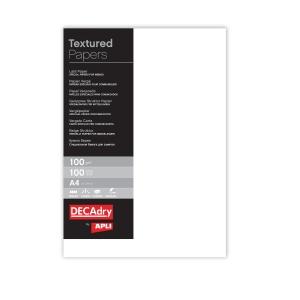 Paquete de 100 hojas de papel A4 de 100g/m2 blanco verjurado