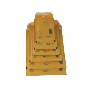 Pack de 10 bolsas con burbuja AROFOL 100x165mm color kraft nº 11